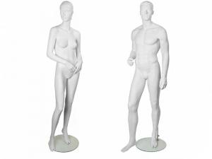 Скульптурные белые манекены