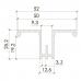 3 /Алюминиевый профиль с двойной перфорацией (L-2400мм)
