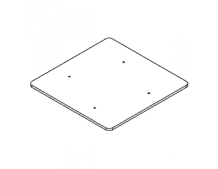 GLV.015 Полка стеклянная 710х710х8мм для вешала 08