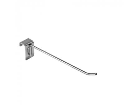 HP 292 /Крючок одинарный на прямоуг. трубу 30х15мм (L-200, d-6 мм)