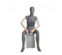 John 04 /Манекен мужской, сидячий (с деревянными руками)