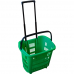 PLD-30 /Корзина пластиковая на колёсах, с выдвижной ручкой (34л) три цвета