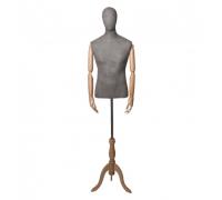 Originals 01 /Торс мужской, с головой (на деревянной подставке, с деревянными руками)