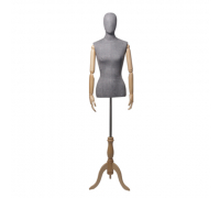 Originals 02 /Торс женский, с головой (на деревянной подставке, с деревянными руками)
