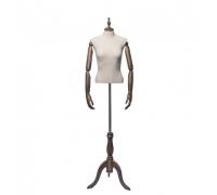 Originals 04 /Торс женский, без головы (на деревянной подставке, с деревянными руками)