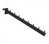 R (TOP) 150 /Кронштейн наклонный на овальную трубу 30х15, L-400мм