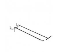 S 343-T /Крючок одинарный с ценникодерж. на перфорацию (L-250, d-4/5мм, шаг 50мм)