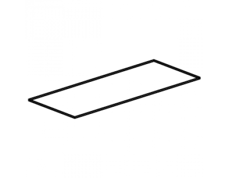 FMT 301b /Полка верхняя стеклянная 877х355х8мм