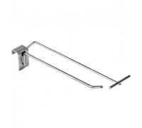 HPP 342 /Крючок одинарный на прямоуг. трубу 30х15мм c ценникодерж.  (L-200, d-4/5мм)