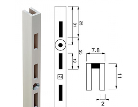Channel N-11 /Стойка перфорированная(L=2400)