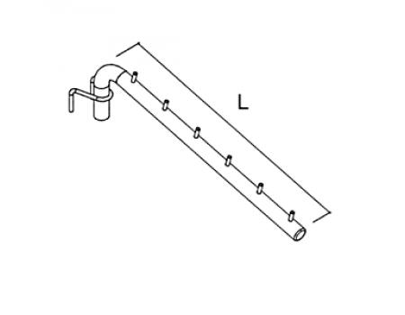 HP-42 /Держатель наклонный 6 зацепов (L=400мм) для HP-8