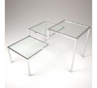 Стол трехярусный (прозрачное стекло)