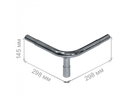 GD 1200 /Ограждение от тележек - угловая стойка