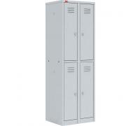 Шкаф для раздевалок, двухсекционный металлический, ШРМ-24